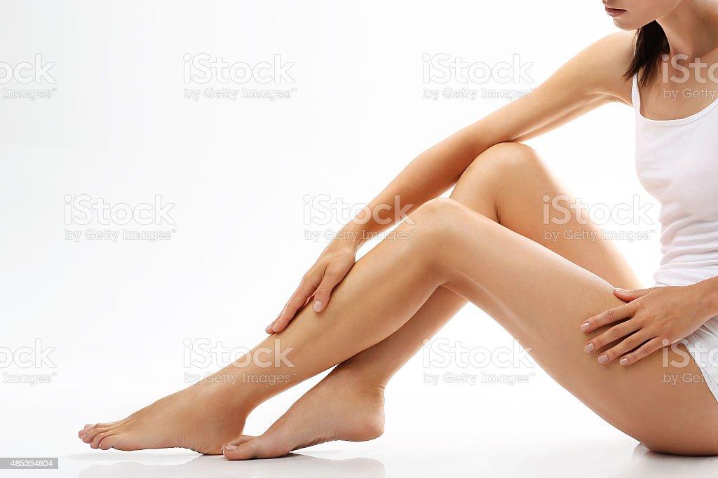 Smooth legs stock photo
