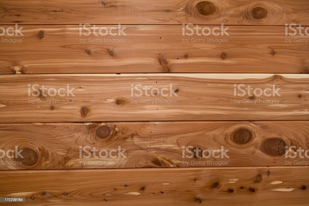Smooth, Light Brown Cedar Planks royalty-free stock photo