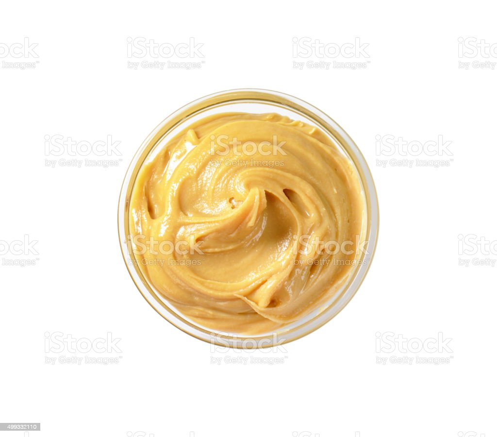 Smooth peanut butter stock photo