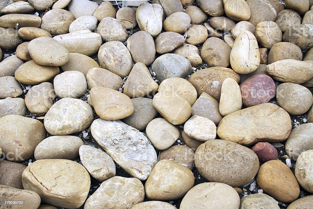 Smooth river stone background royalty-free stock photo