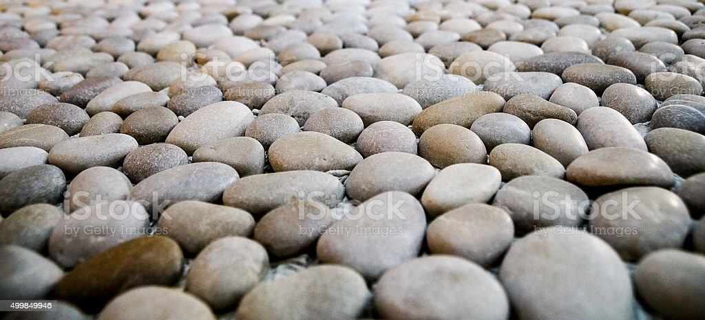 Smooth rock collection design stock photo