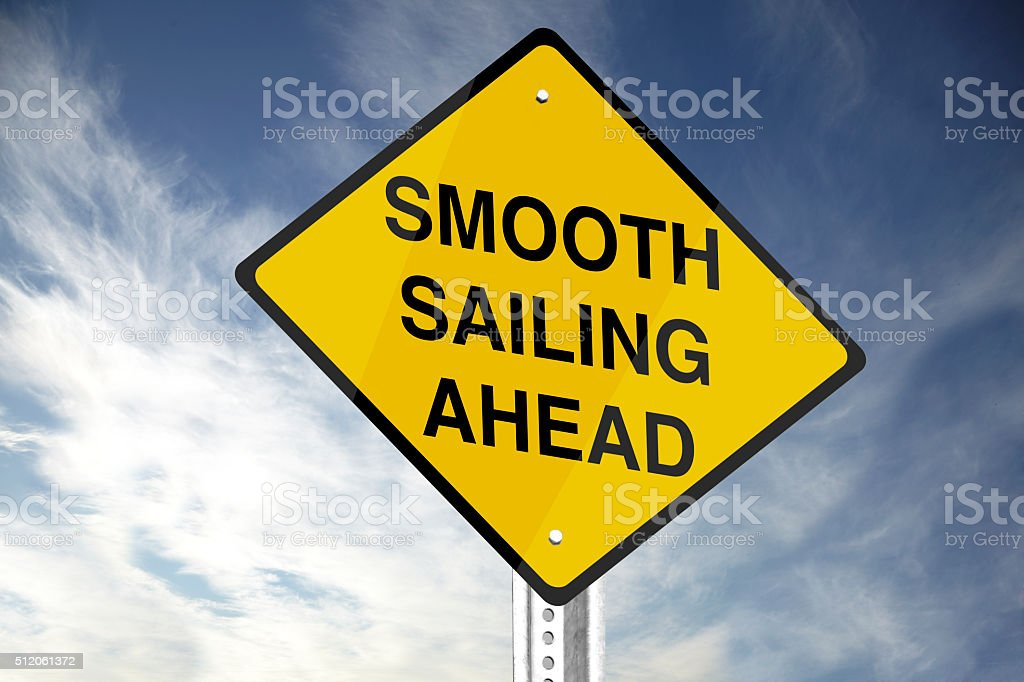 Smooth Sailing Ahead stock photo