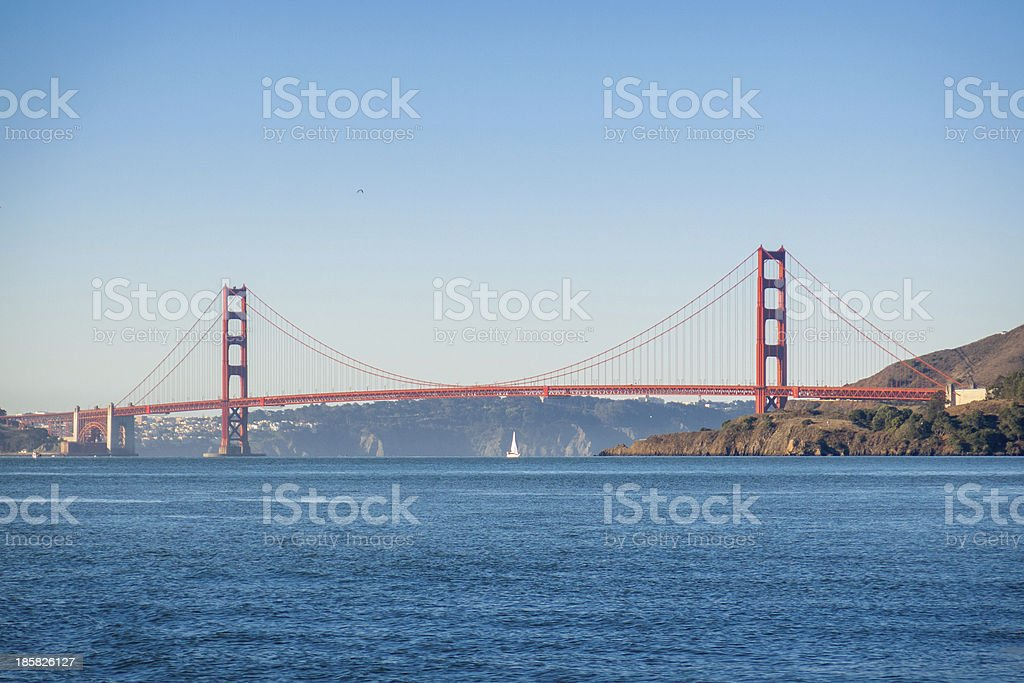 Smooth Sailing Through the Golden Gate royalty-free stock photo
