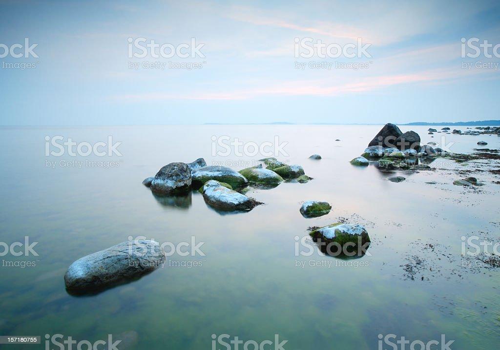 Smooth Sea royalty-free stock photo