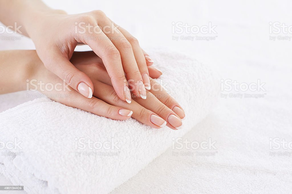 Smooth skin. stock photo