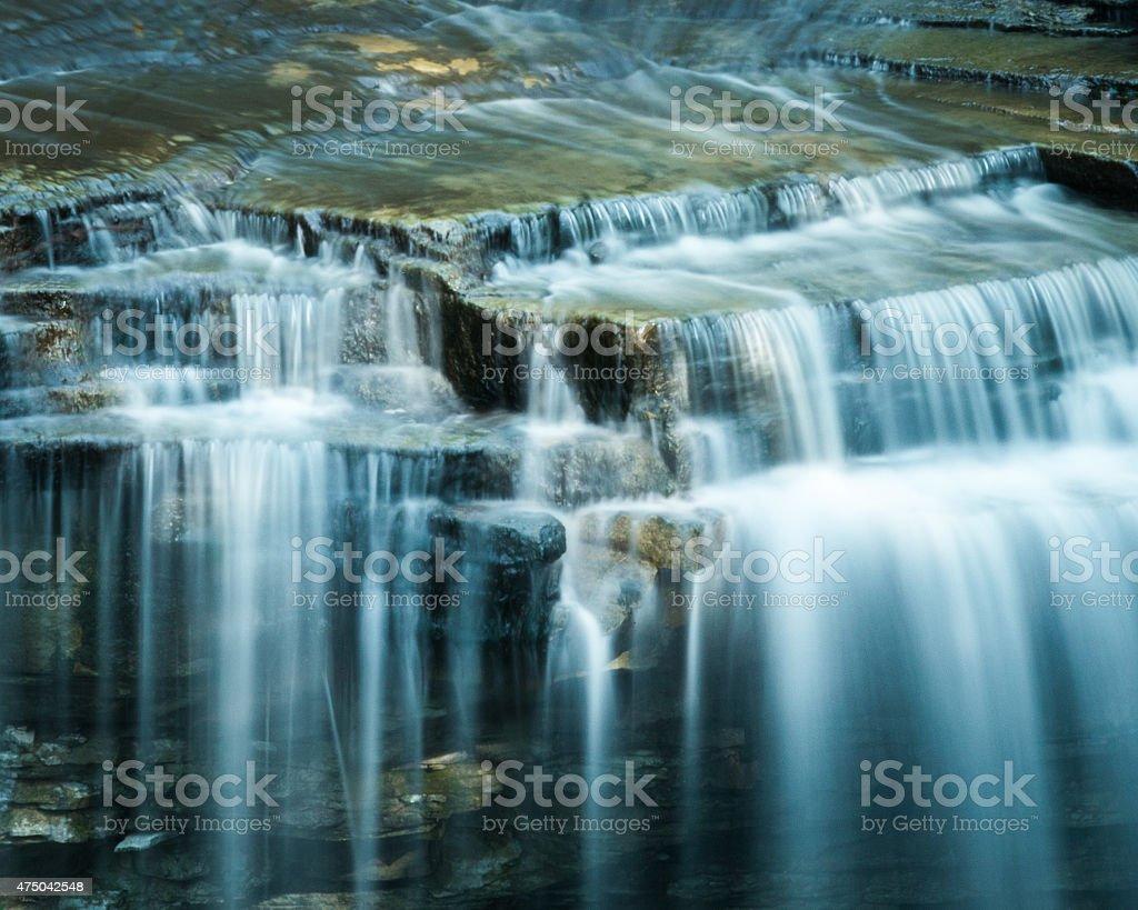 Smooth Water Cascade stock photo
