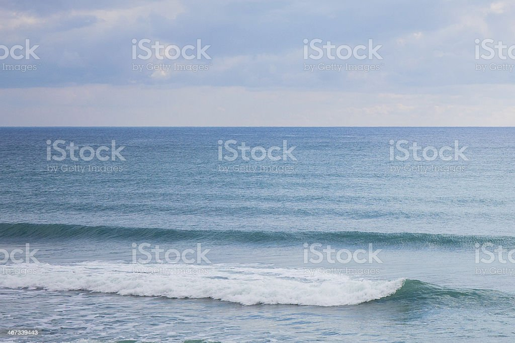 Smooth waves and sea swell stock photo