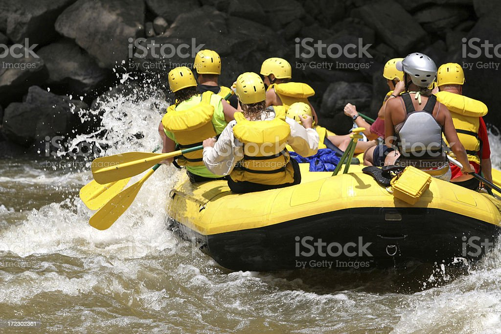 Smooth Whitewater royalty-free stock photo