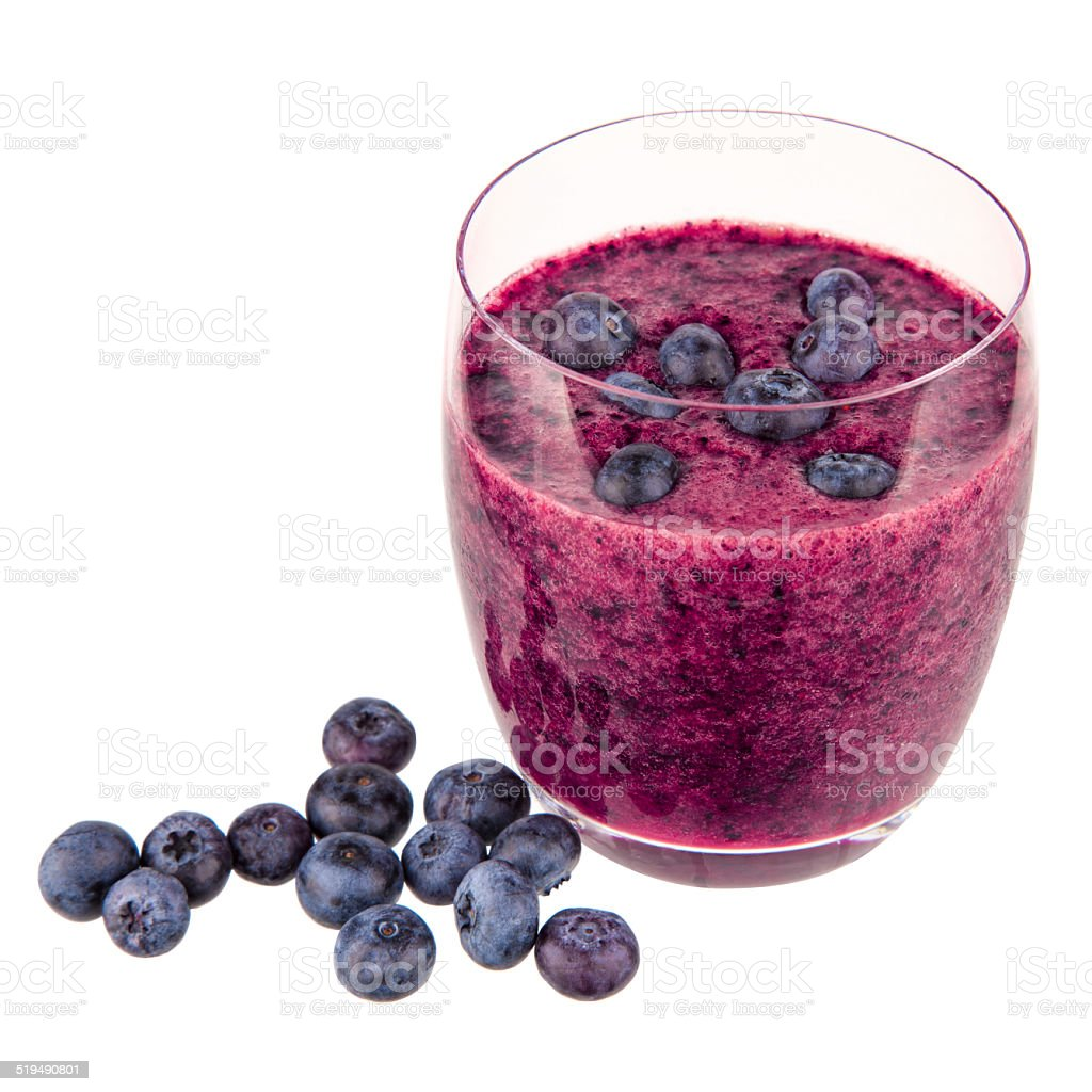 Smoothie Blaubeeren stock photo