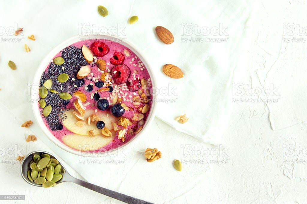 Smoothie bowl stock photo