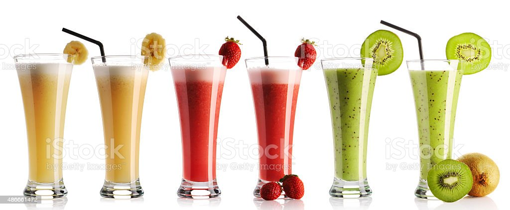 Smoothie collection stock photo