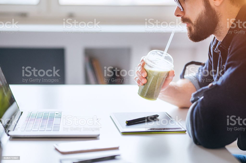 Smoothie for healty day stock photo