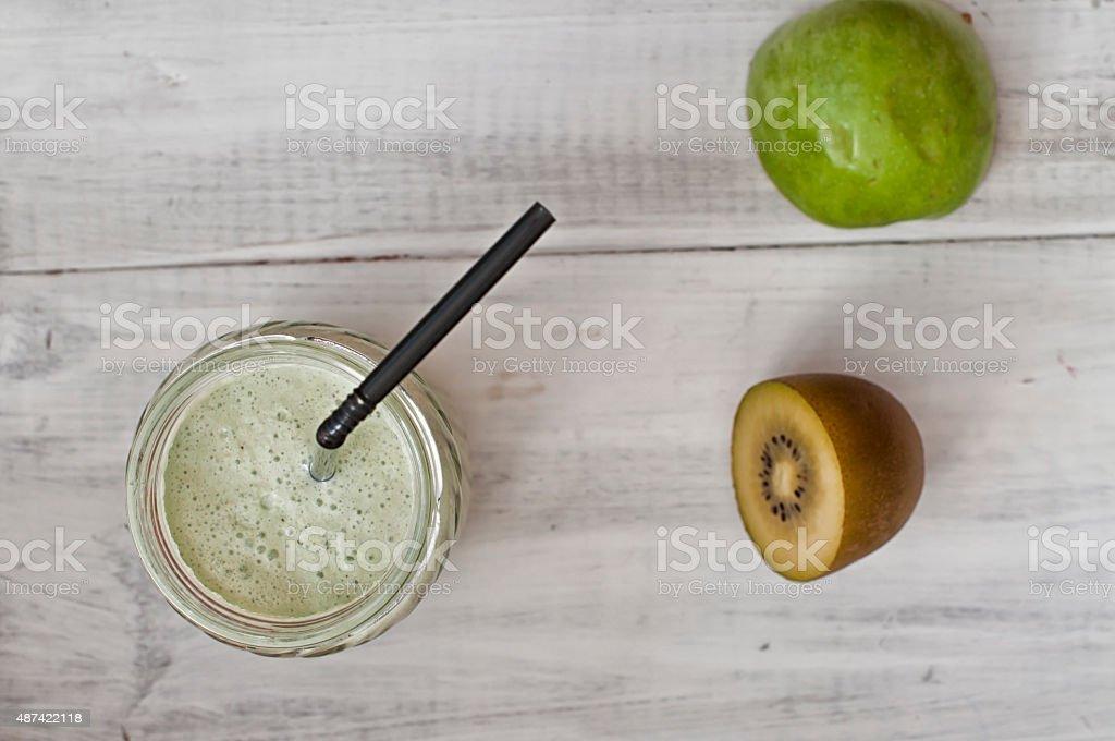 Smoothie fruits with yogurt stock photo
