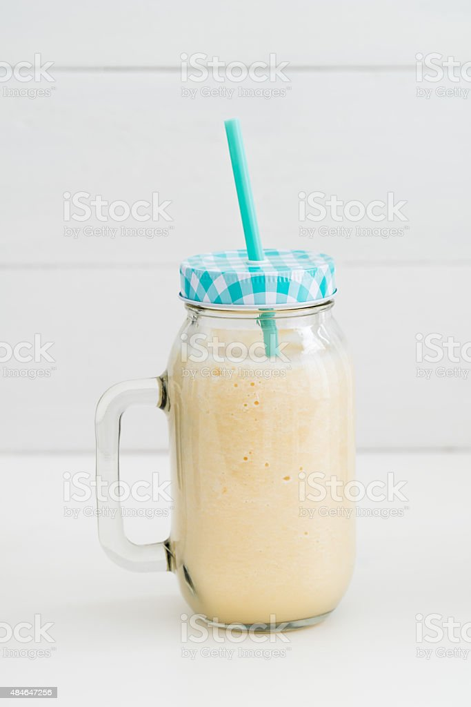 Smoothie in a glass stock photo
