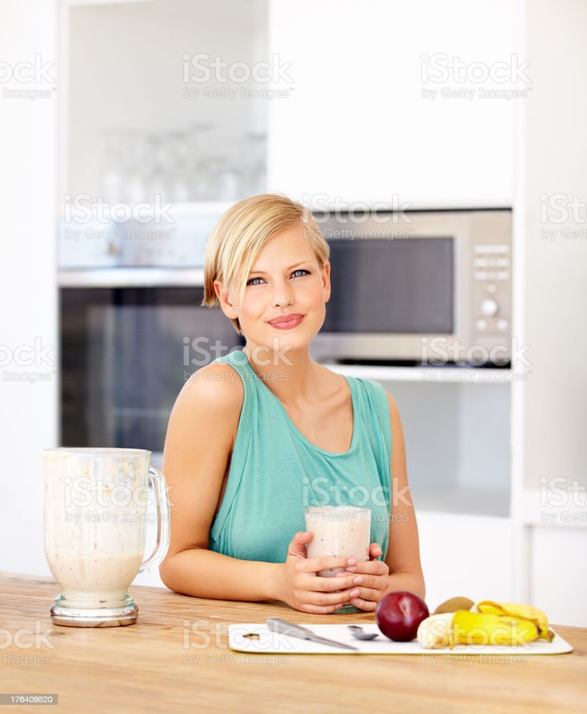 A smoothie is great on a warm day royalty-free stock photo