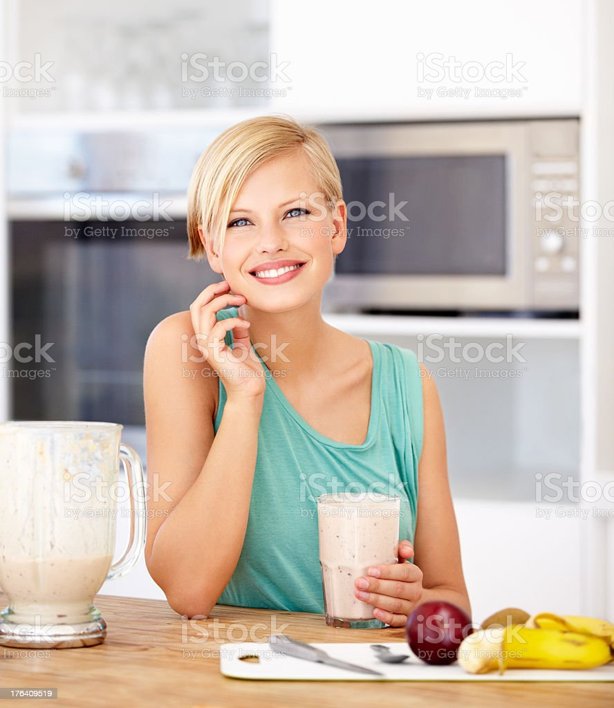 A smoothie is refreshing and healthy royalty-free stock photo