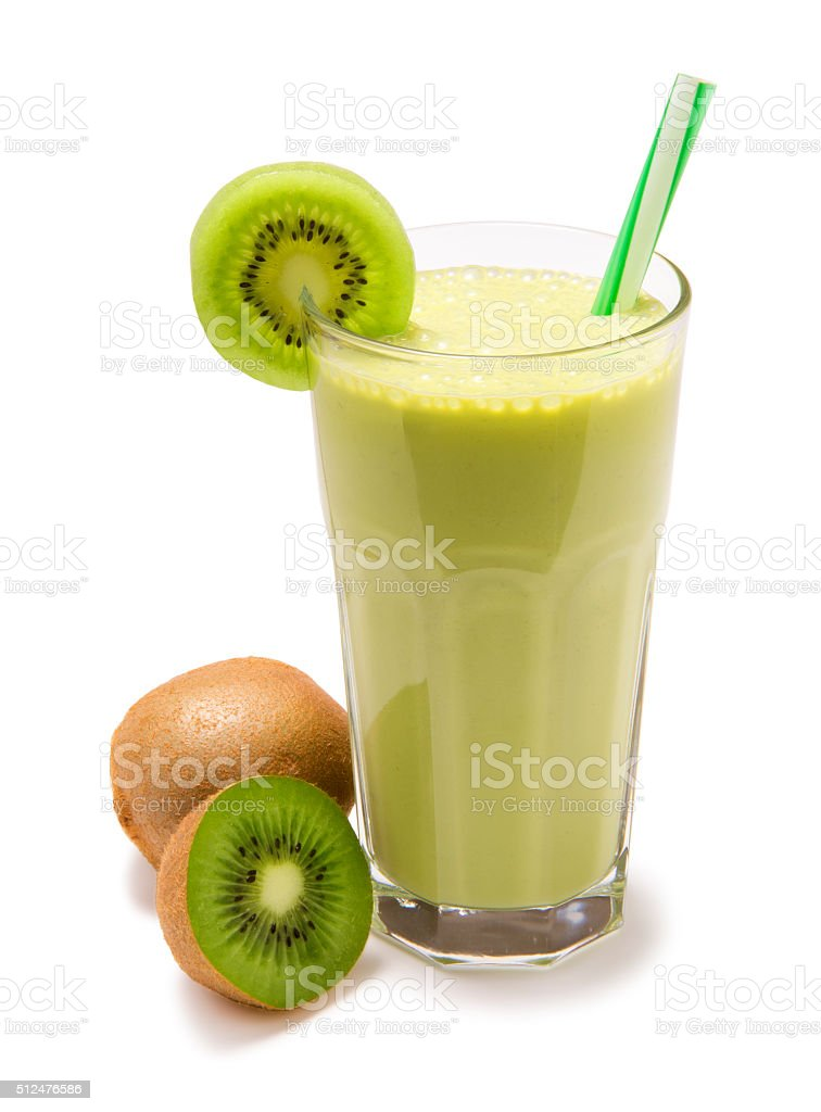 smoothie kiwi isolated stock photo