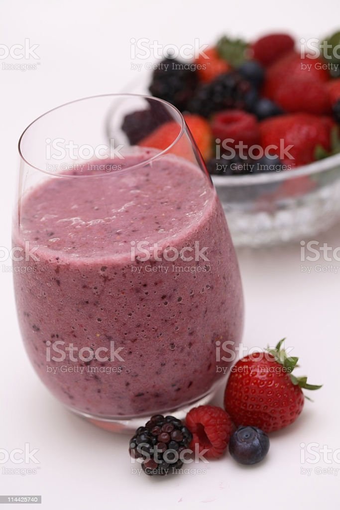 Smoothie of berries royalty-free stock photo