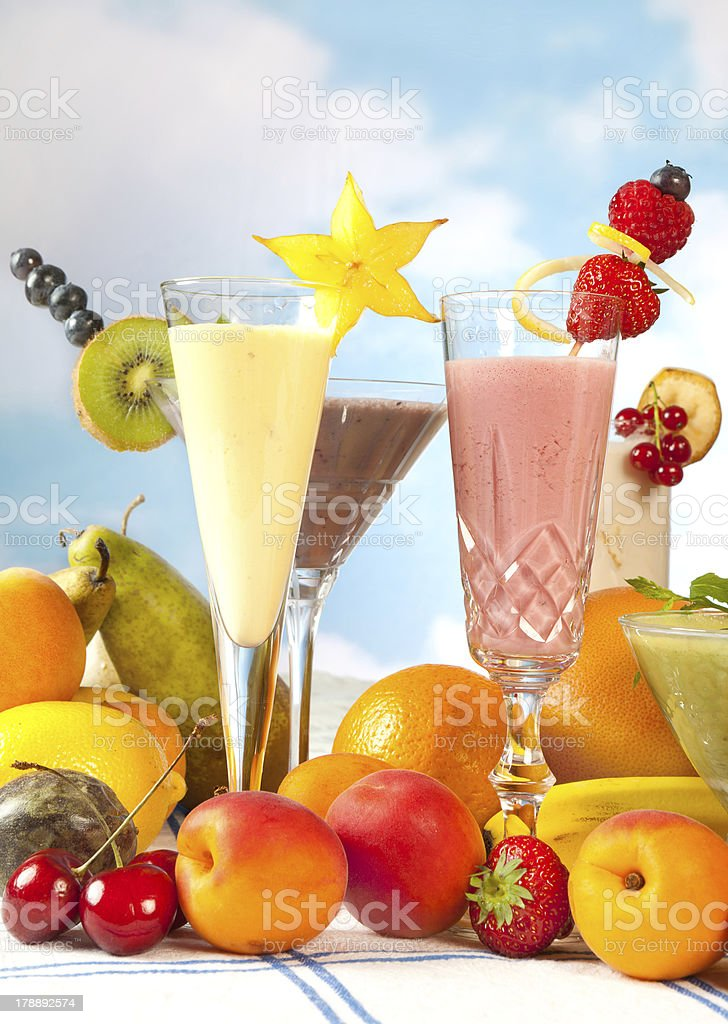 Smoothie party royalty-free stock photo