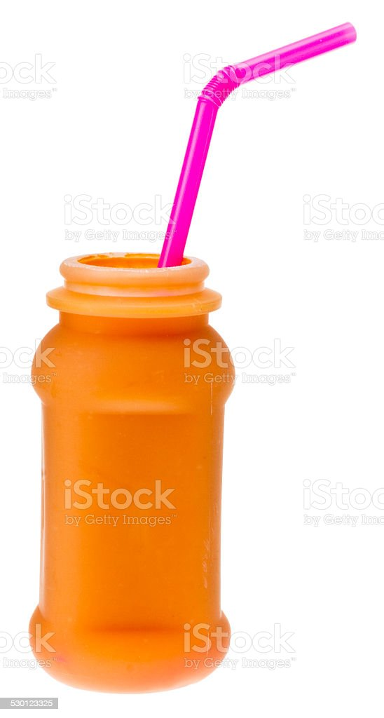 Smoothie mit Srohhalm stock photo