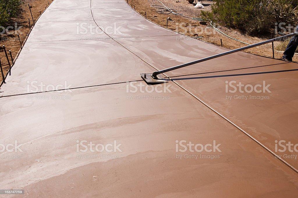 Smoothing concrete stock photo
