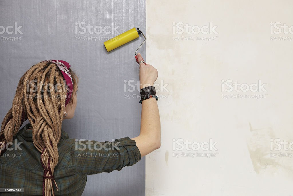 Smoothing wallpapers. royalty-free stock photo