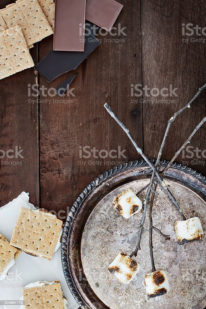 Smores and Ingredients stock photo