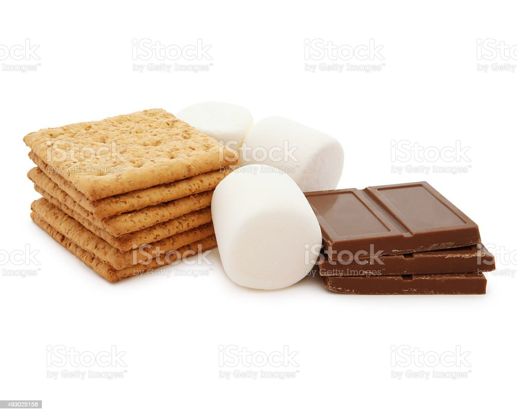 Smores Ingredients (with path) stock photo