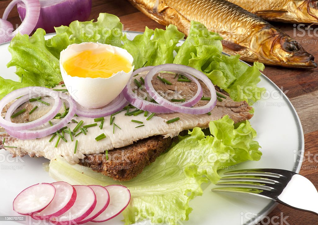 Smorrebrod -Danish delicacy. stock photo