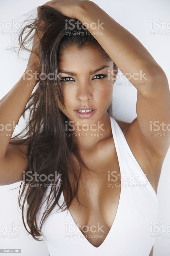 Smouldering sensuality stock photo