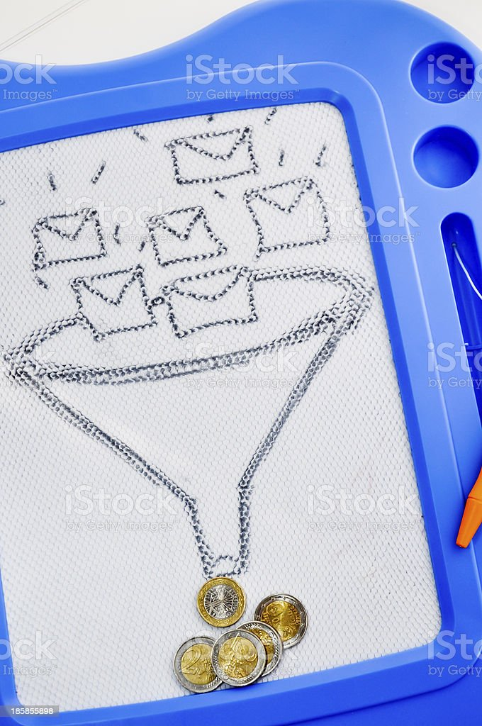 sms or e-mail marketing royalty-free stock photo