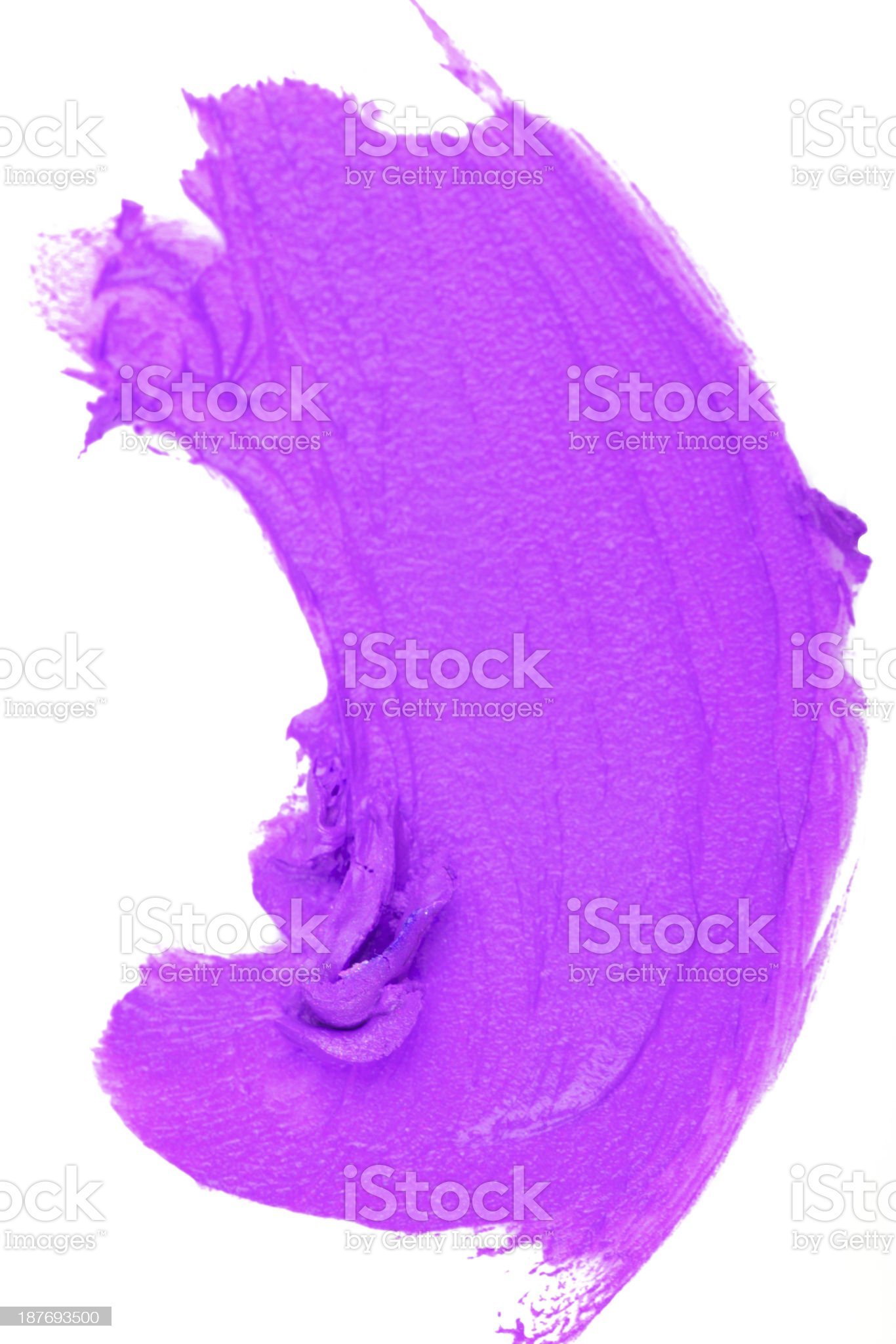 Smudged lip gloss royalty-free stock photo