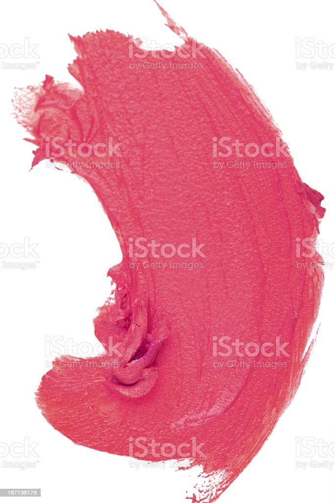 Smudged lipgloss royalty-free stock photo