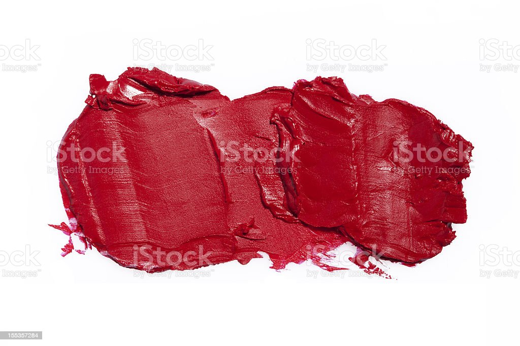 Smudged Lipstick royalty-free stock photo