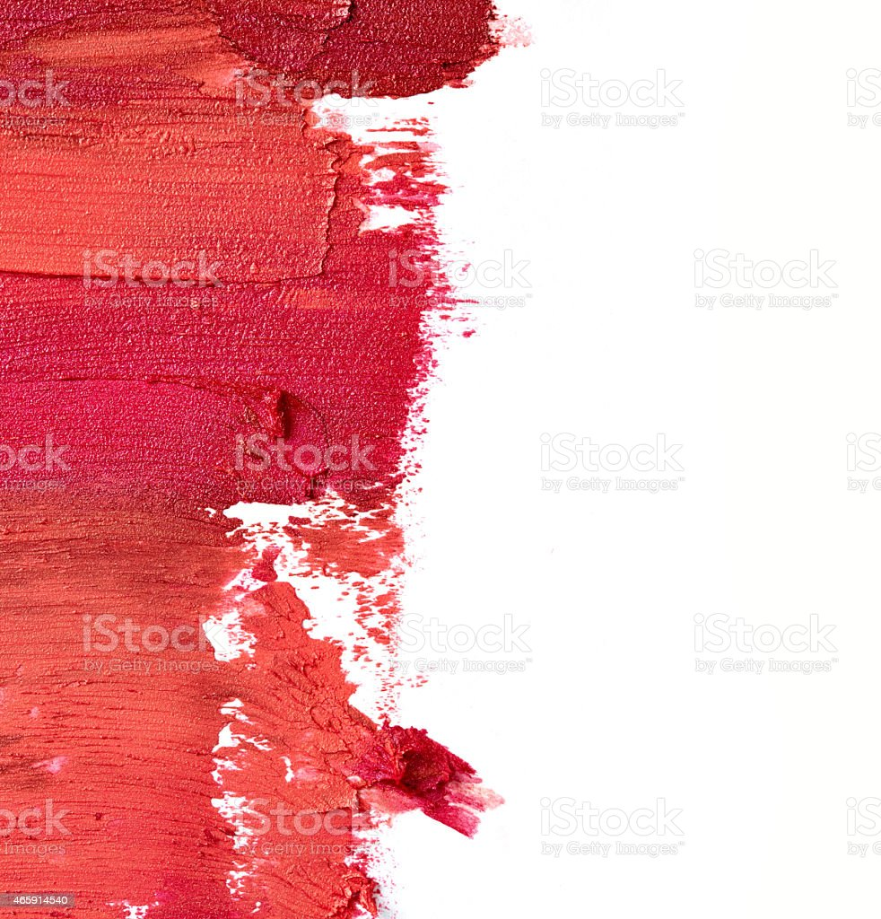 Smudged lipstick stock photo