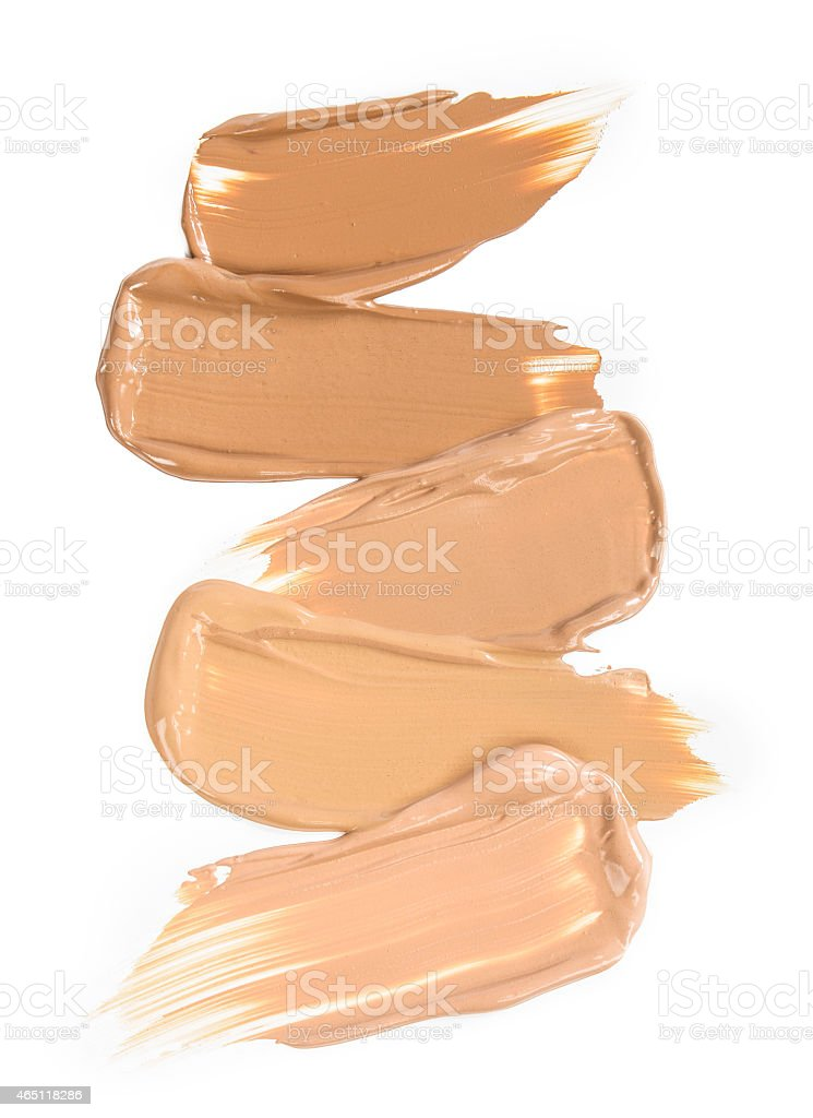 smudges of makeup in different shades stock photo