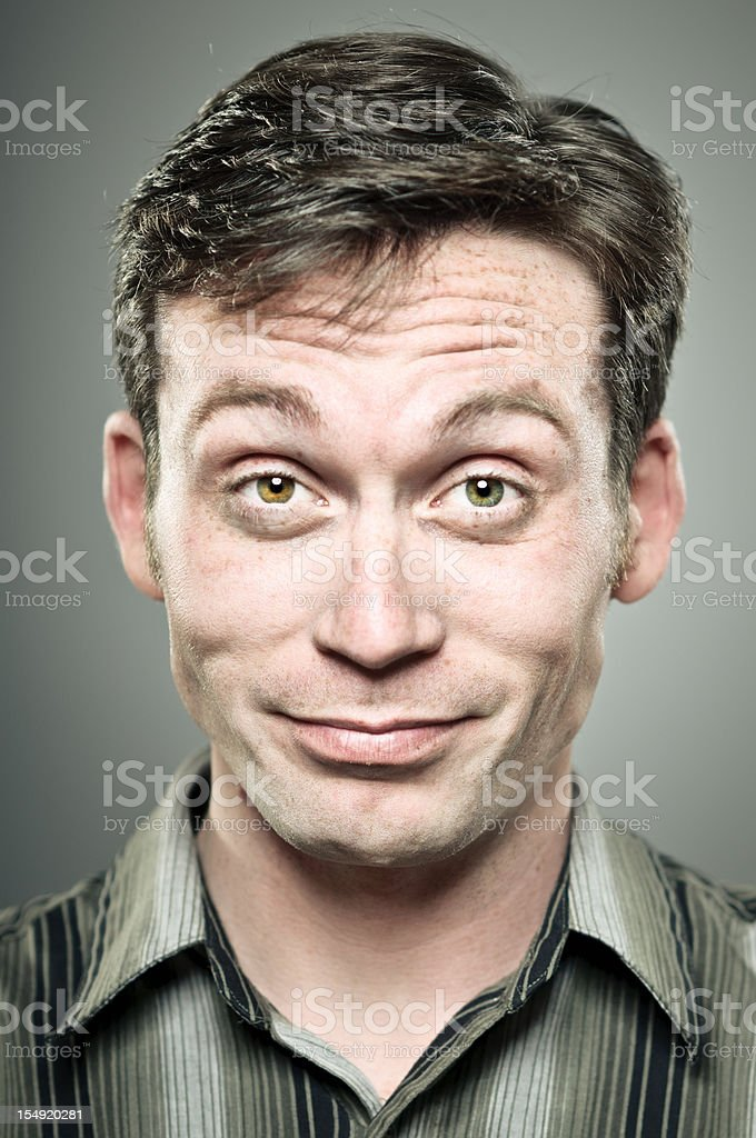 Smug Man Portrait stock photo