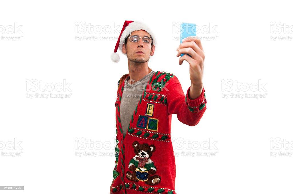 Smug selfie stock photo