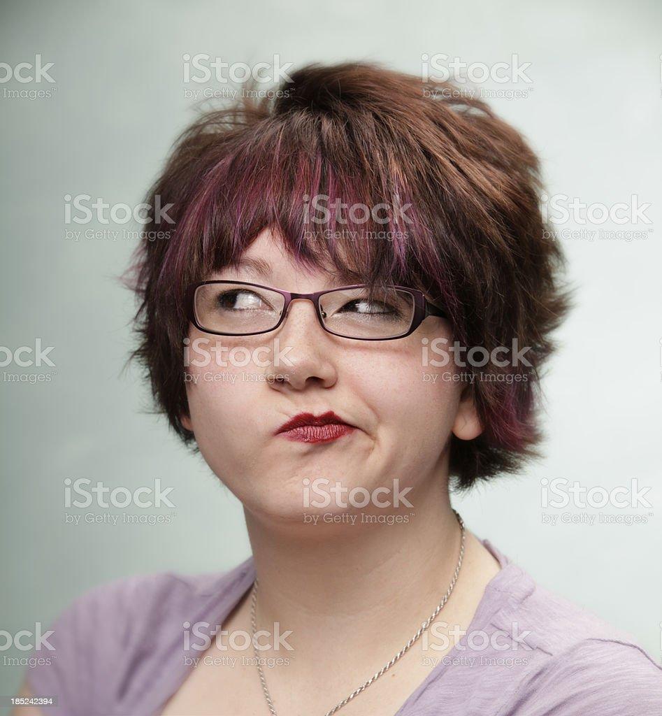 Smug woman royalty-free stock photo