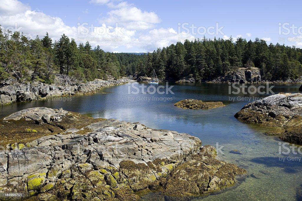 Smuggler Cove Marine Provincial Park Sechelt stock photo