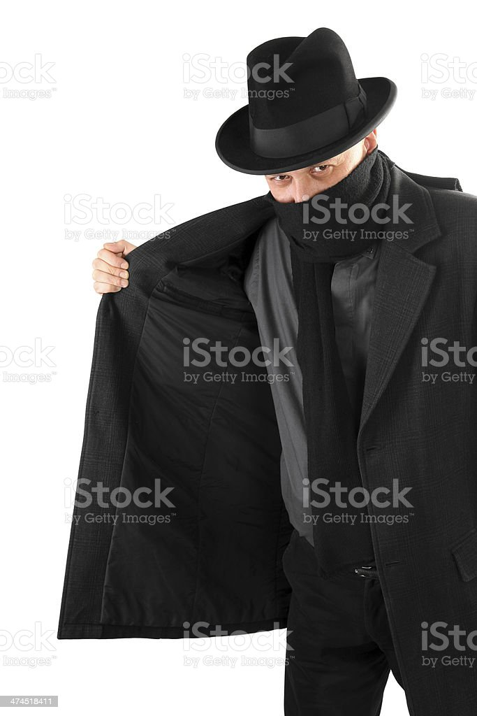 Smuggler is selling something illegally on black market stock photo
