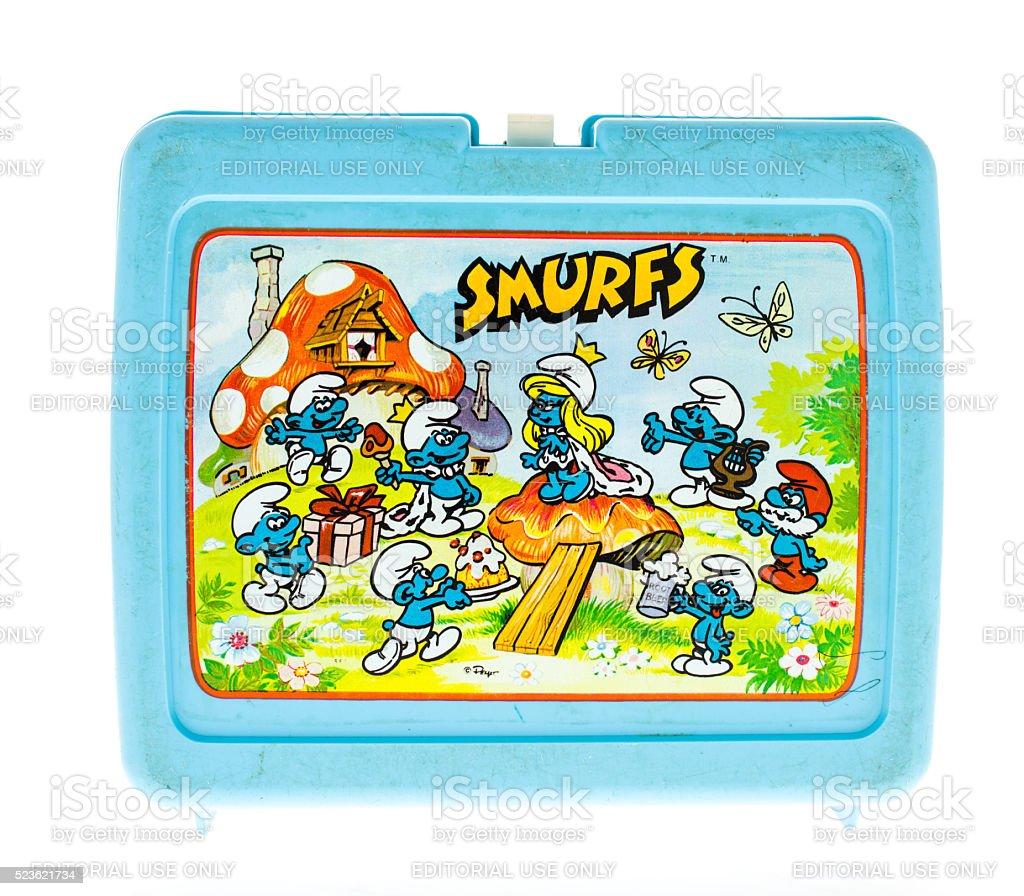 Smurfs Lunch Box stock photo