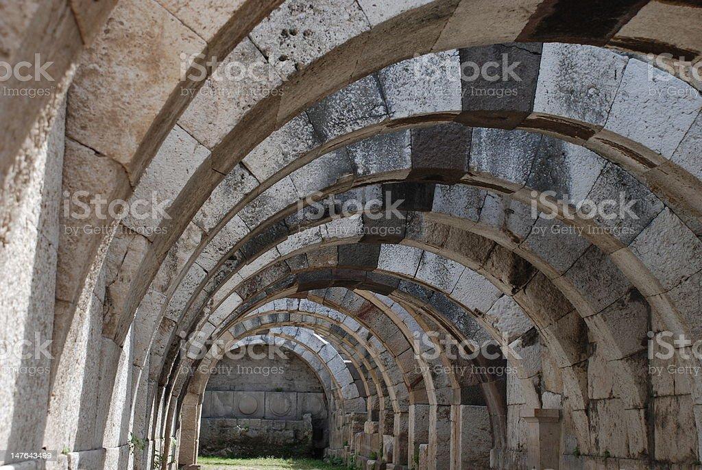 Antike Ruinen in Smyrna Lizenzfreies stock-foto