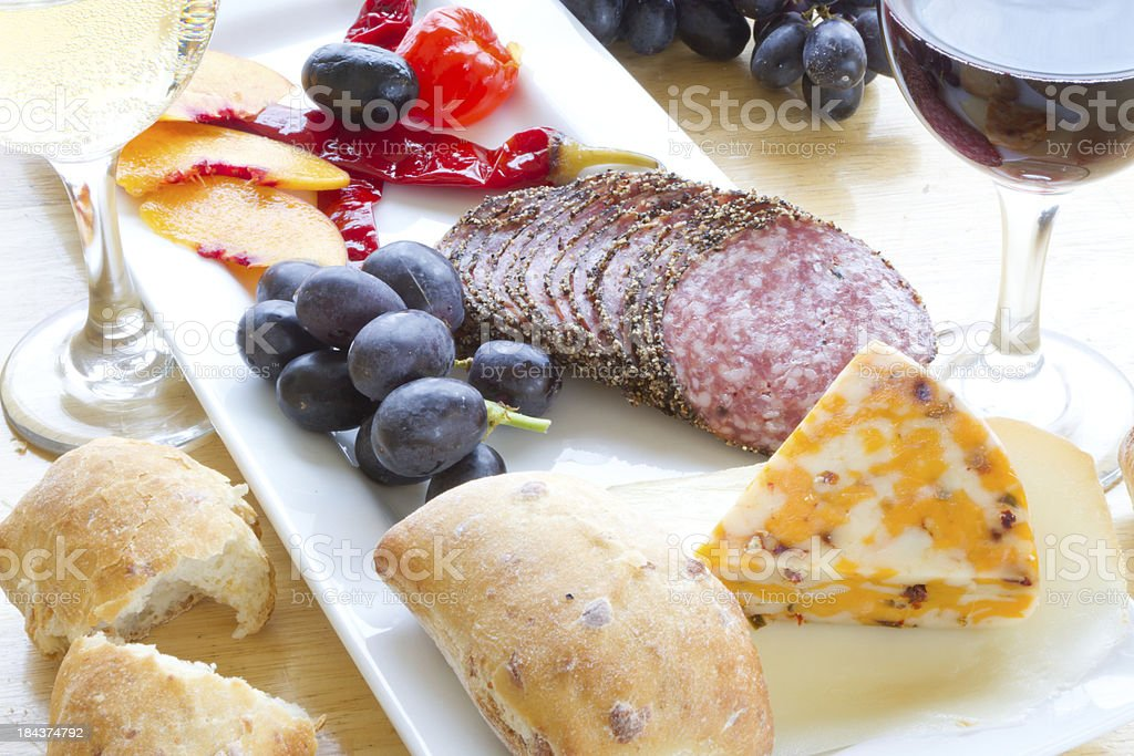 Snack and wine royalty-free stock photo