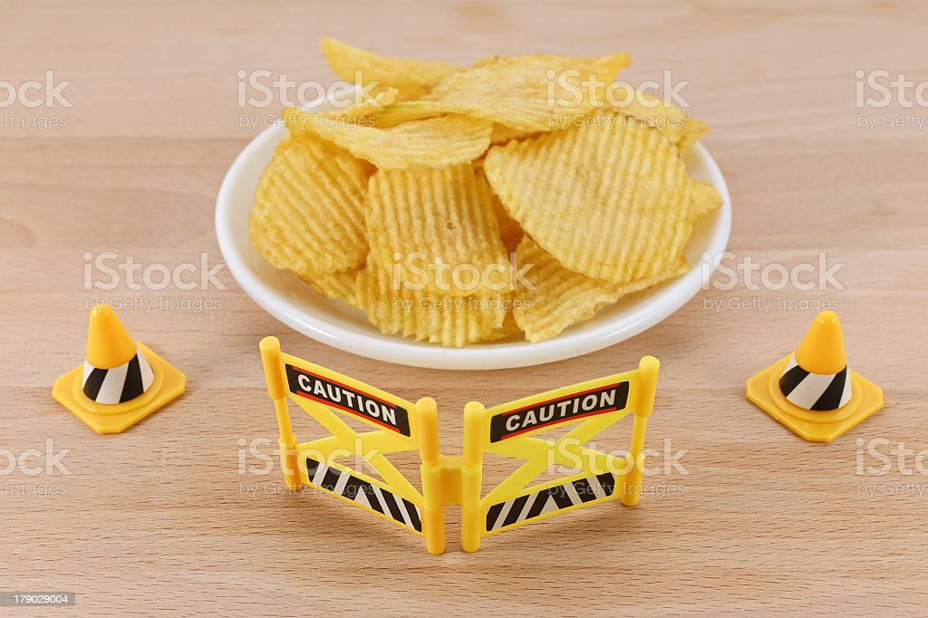 Snack Barrier for Potato Chips royalty-free stock photo