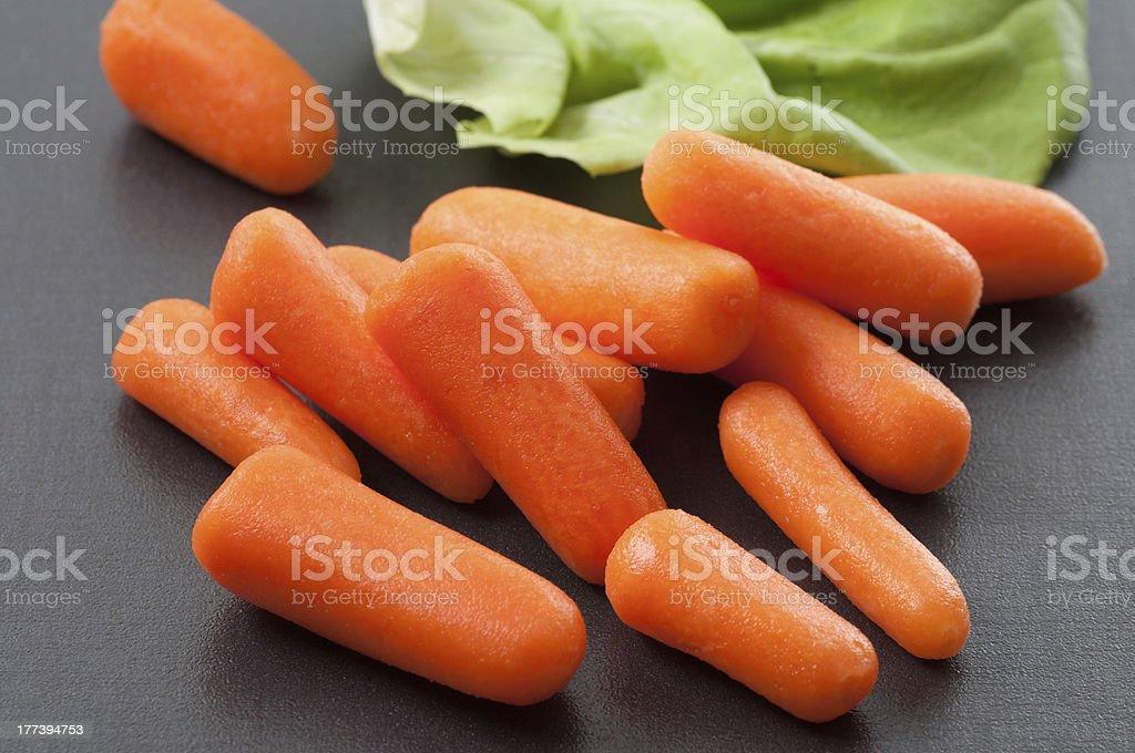 Snack Carrots stock photo