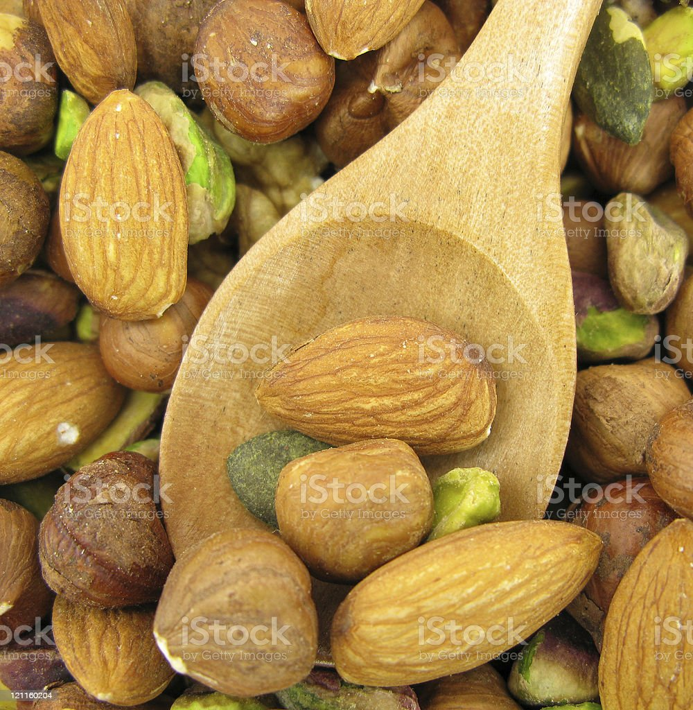 Snack fruits with wooden spoon royalty-free stock photo