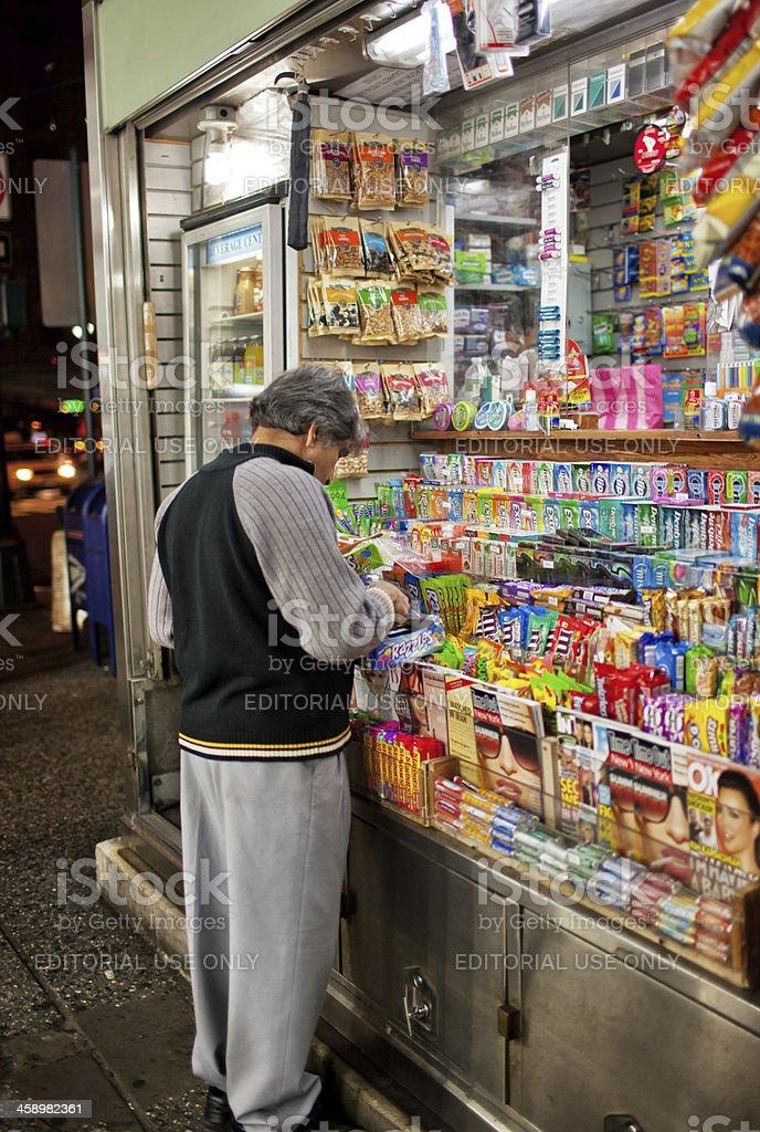 Snack Kiosk on New York street, USA stock photo