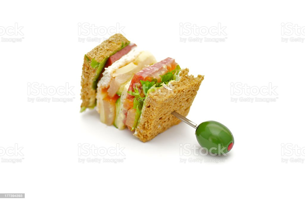 Snack of Classical BLT Club Sandwich royalty-free stock photo