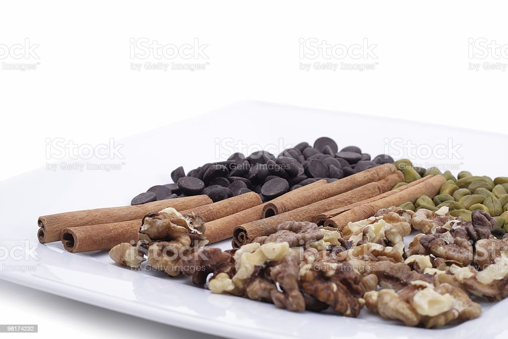 Snack on a plate royalty-free stock photo